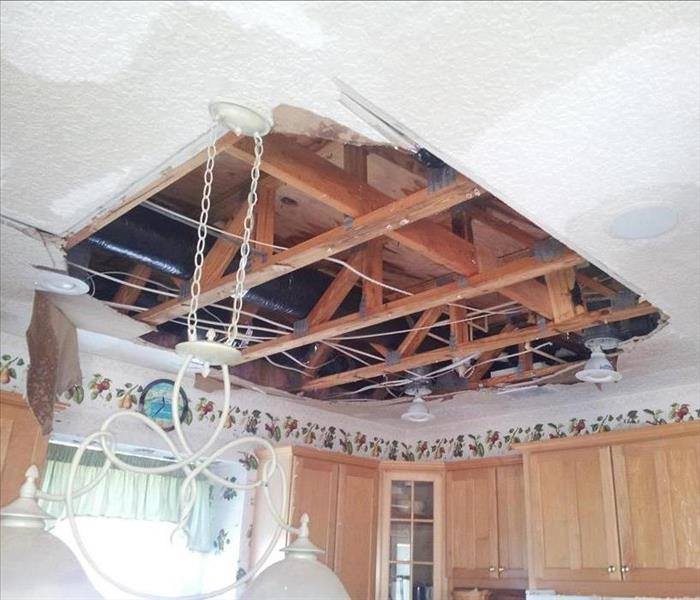 Water Damage in Kitchen Ceiling After